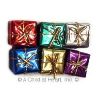 § Disc $1 Off - 6 Large Dollhouse Foil Wrapped Gifts - Product Image