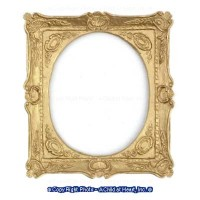 Dollhouse Fancy Gold Rectangular Frame - Product Image