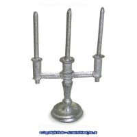 (*) Unfinished Candleabra with Candles - Product Image