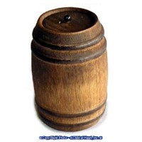 (§) Sale .30¢ Off - Aged Wood Barrel with Pull - Product Image