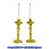 (*) Unfinished Candlesticks & Candles - Product Image