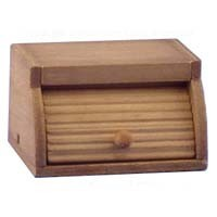 (*) Dollhouse Wooden Bread Box - Product Image