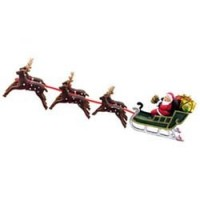 § Sale .60¢ Off - Dollhouse Santa Sled with Reindeers - Product Image