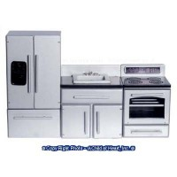 3 pc Modern Dollhouse Appliance Set - Product Image