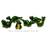 § Disc .60¢ Off - 6 Dollhouse Ceramic Dinos - Product Image