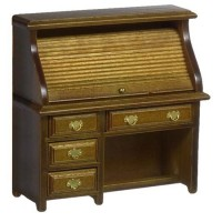 Dollhouse Small Roll Top Desk - Walnut - Product Image