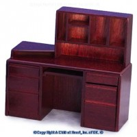 § Disc $3 Off - Dollhouse Modern Computer Desk Mahogany - Product Image