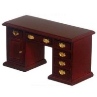 Dollhouse Knee Hole Desk - Mahogany - Product Image
