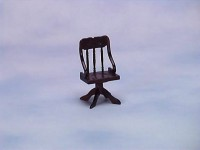 Dollhouse Walnut Press Back Office Chair - Product Image