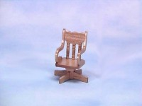 Dollhouse Oak Swivel Chair - Product Image
