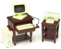 Dollhouse Computer & Desk Set - Product Image