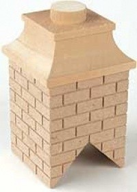 Unfinished Partially Bricked Chimney - Product Image