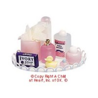 Dollhouse Nursery Tray - Pink - Product Image