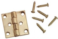 § Sale .50¢ Off - Dollhouse Butt Hinges with Nails - Product Image