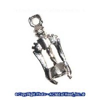 (*) Dollhouse Silver Wine Opener / Cork Screw - Product Image