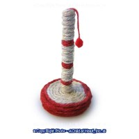 Cat Scratching Post with Red Ball - Product Image