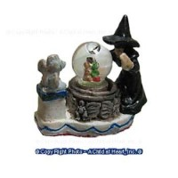 Dollhouse Witch Water Globe - Product Image