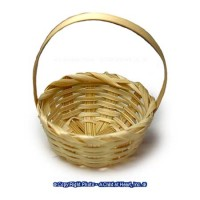 § Disc .40¢ Off - Dollhouse Natural Straw Basket - Product Image