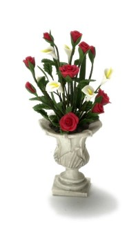 Red and White Floral Arrangement - Product Image