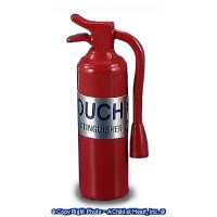 (*) Red Dollhouse Fire Extinguisher - Product Image
