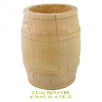 Dollhouse Large Wood Barrel - Product Image