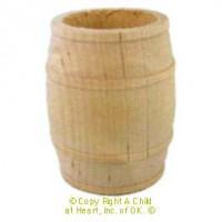 Dollhouse Large Wood Barrel - Product Image