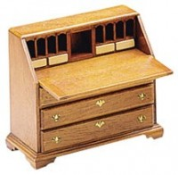Dollhouse Chippendale Drop-Front Desk (Kit) - Product Image