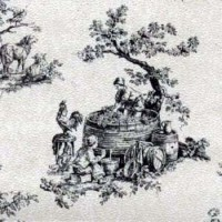 § Sale $3 Off - 3 Shts  French Toile Wallpaper - Product Image