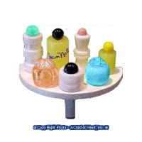Dollhouse 1/2 Round Perfume Shelf - Product Image