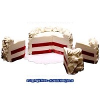 § Sale $1.50 Off - Dollhouse Red Velvet Cake with 3 Slices - Product Image