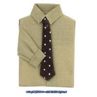 § Disc .60¢ Off - Man's Shirt Tan w/ Black Tie - Product Image