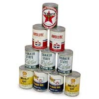 Dollhouse Stack of Oil Cans - Product Image