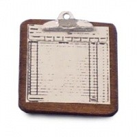 § Disc $1.20 Off - Dollhouse Clipboard w/ paper - Product Image
