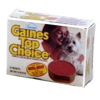 § Disc .30¢ Off - Dollhouse Box of Dog Burger Food - Product Image