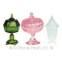 § Sale .60¢ Off - Dollhouse 3 pc Candy Dishes (Kit) - Product Image