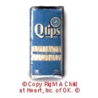 § Disc .60¢ Off - Dollhouse Q-Tip Cotton Swabs Box - Product Image