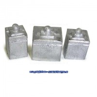 (*) Unfinished - 3 Square Canisters - Product Image