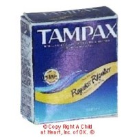 § Disc .60¢ Off - Dollhouse Tampax Box - Product Image