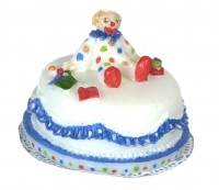 § Sale $1 Off - Clown Birthday Cake - Product Image