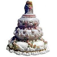 (*) Dollhouse Wedding Cake with Bride & Groom - Product Image