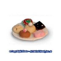 § Disc .60¢ Off - Dollhouse Plate of Cookies - Product Image