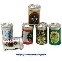 (*) 6 Assorted Beer Cans - Product Image