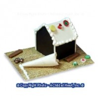 Sale $2 Off - Dollhouse Gingerbread House in the Making - Product Image