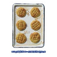 Dollhouse Snicker Doodles Cookies Baking Tray - Product Image