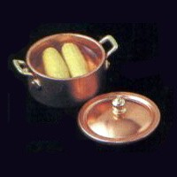 Dollhouse Corn Cobs in Pan - Product Image
