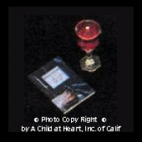 Haggadah with Glass of Wine - Product Image