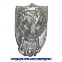 (*) Unfinished Lion's Head Door knocker - Product Image