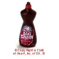 § Disc .60¢ Off - Dollhouse Log Bottled Syrup - Product Image
