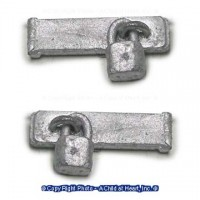 (*) Unfinished Hasp w/ Modern Pad Lock - Product Image