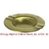 (*) Unfinished Metal Ashtray - Product Image